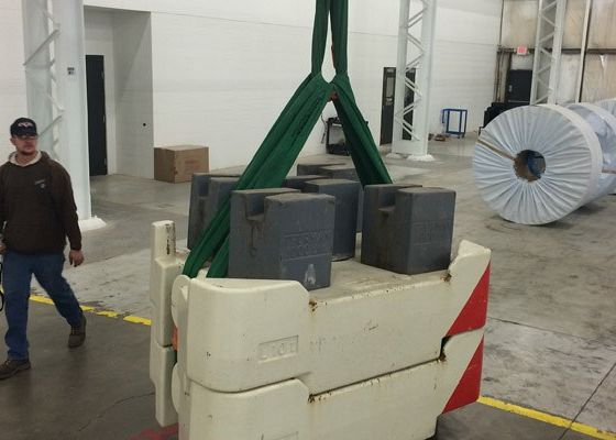 Weights for Crane Load Test